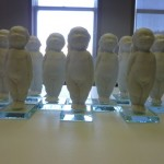 Mood shot.  The Herend porcelain babies are now on glass squares.